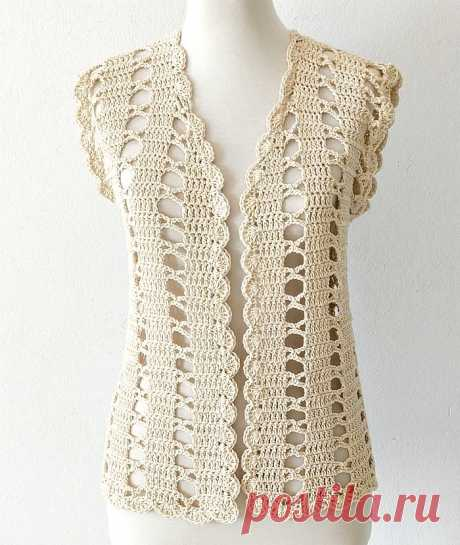 Cómo tejer chaleco crochet fácil - Handwork Diy