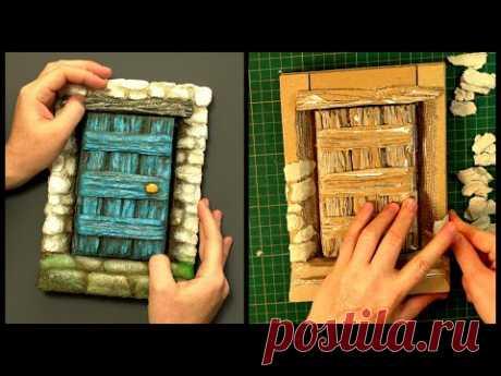 ❣DIY Fairy Door Notebook Using Cardboard❣ - YouTube