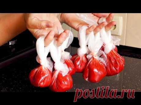 Век живи-век учись! ГУСТАЯ томатная паста ЗА 30 МИНУТ вместо 3 ЧАСОВ! Заготовка на зиму.