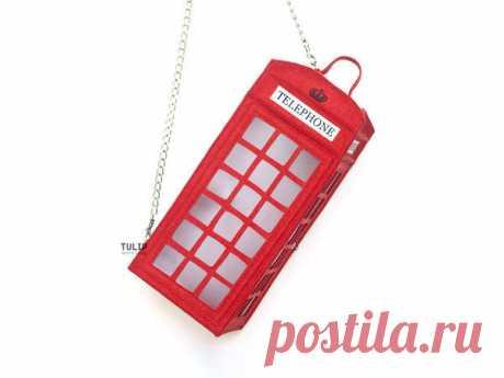 Шьем сумку «Telephone Box» из фетра своими руками