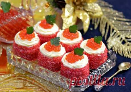 Маленькие закусочные пирожные с икрой | Кошкин дом