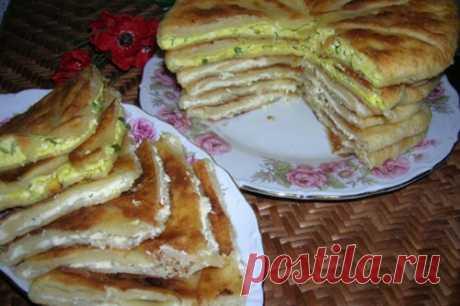 Донские лепешки на кефире с картофелем и яйцом   Четыре вкуса
