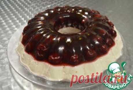 Торт желейный вишнёво-творожный - кулинарный рецепт