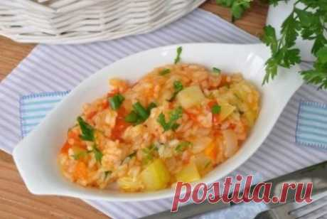 Кабачки с овощами и рисом в мультиварке. | Краше Всех