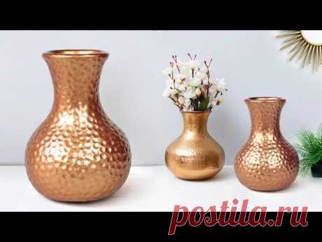 Cement flower vase || Look like Copper flower vase  || सीमेंट फूलदान