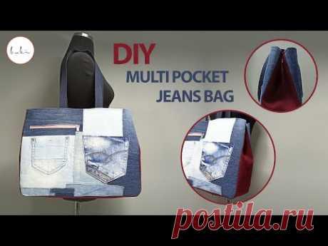 Изготовление джинсовой сумки-тоут | Как сшить джинсовую сумку?