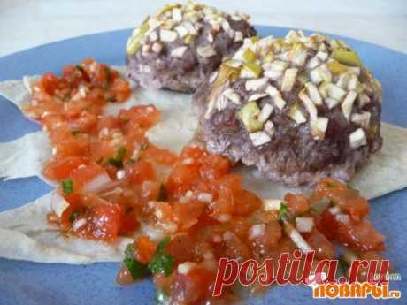 Cutlets in Mexican with Salsa Mexicana