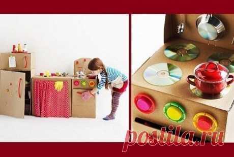 Потрясающие игрушки из коробок. - полезные советы