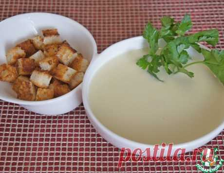 Пряный чесночно-сливочный суп-пюре – кулинарный рецепт