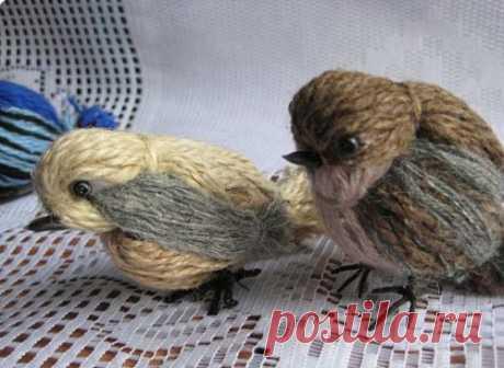 Как сделать птичку из ниток своими руками. Воробей из ниток мастер-класс, фото