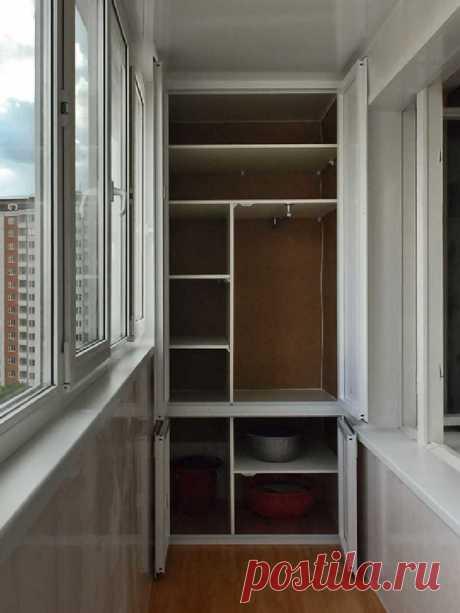 Идеи шкафов на балконе / Домоседы