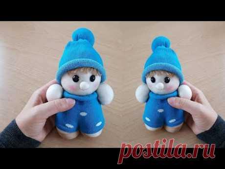 Как сделать куклу из носка - кукла из носка своими руками