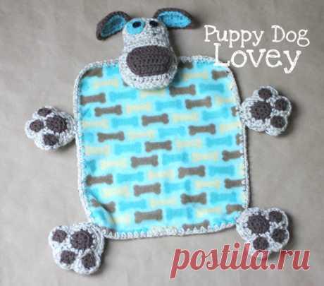 """Одеяло """"любимый щенок"""". Вяжем крючком. Описание."""