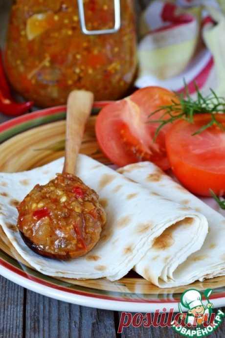 Chatni from eggplants the Culinary recipe