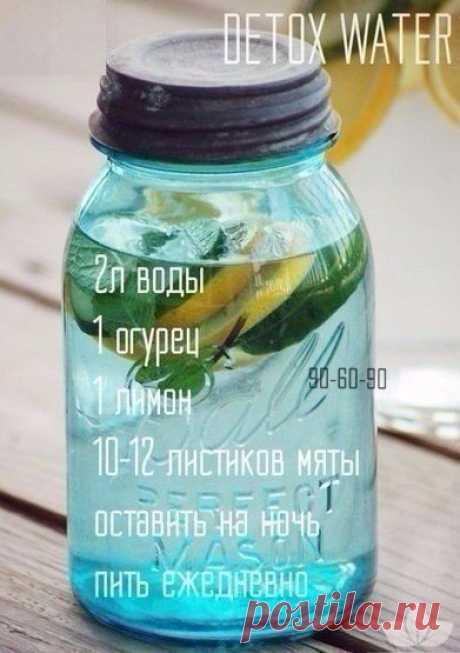 Как приготовить детокс-воду для снижения веса — Полезные советы