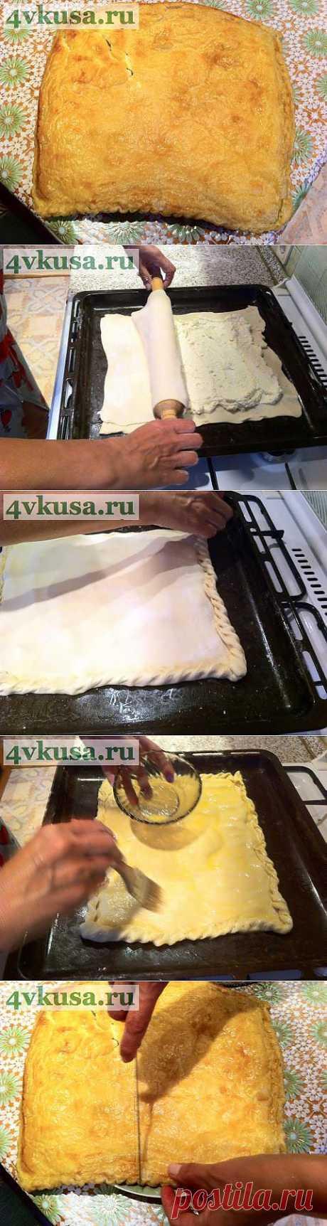 Хачапури из слоеного теста. | 4vkusa.ru