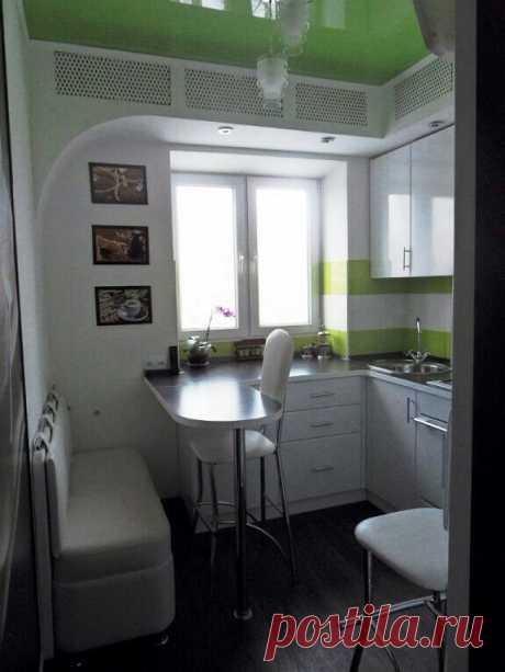 Una pequeña cocina