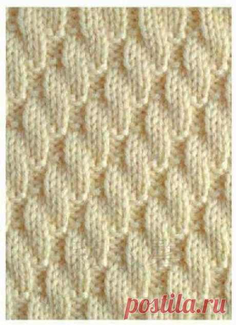 Рельефные узоры спицами