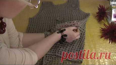 Туника майка Филейное вязание