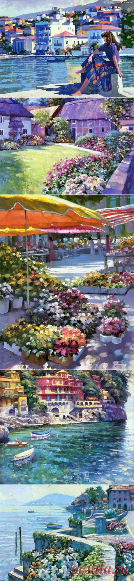 Яркий мир красоты художника Говарда Беренса..