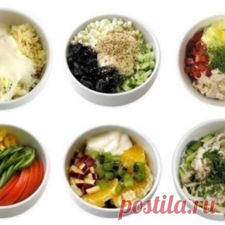 6 мини-салатов: просто объедение! Попробуйте и вы!