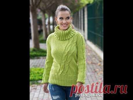 Оригинально связанный Пуловер / Stylish Pullover