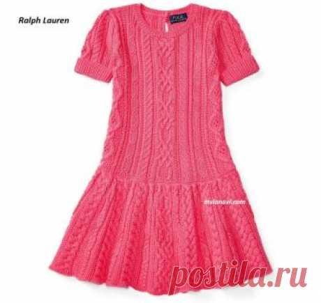 Платье спицами для девочек | Вяжем с Лана Ви