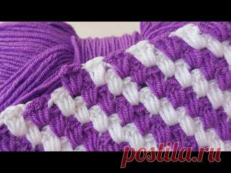 Süper easy crochet knitting pattern #blanket harika bir örgü tığ işi