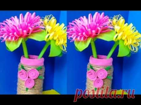 Сделать красивые цветы цветной бумаги своими руками/подарки день Матери,8 Марта Поделки бумаги МК