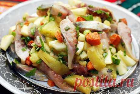 Herring salads - several recipes