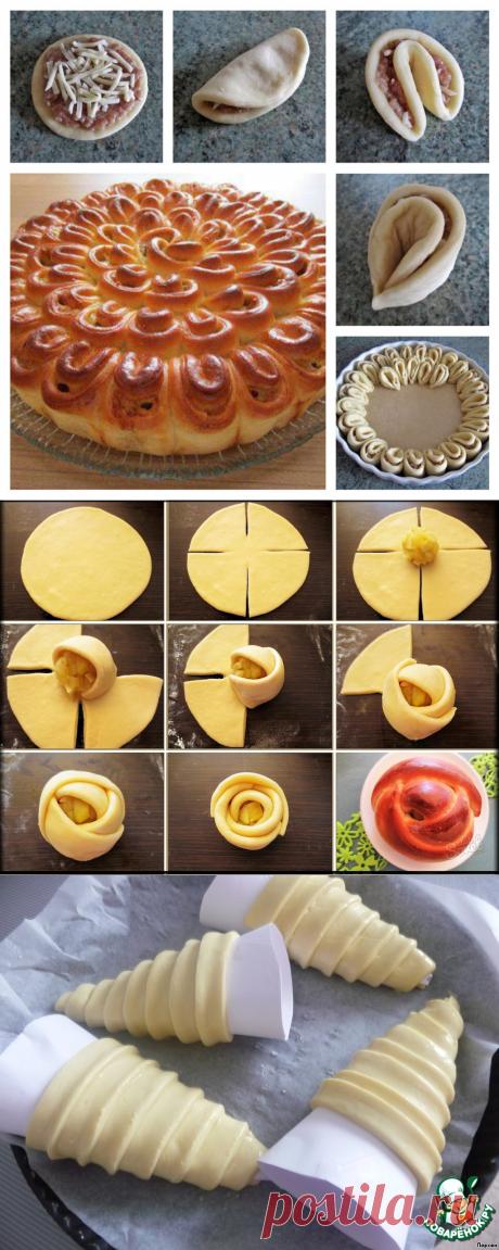 Как сделать красивую выпечку: оригинальные способы сворачивания теста. | #ДОМСОВЕТОВ# | Яндекс Дзен