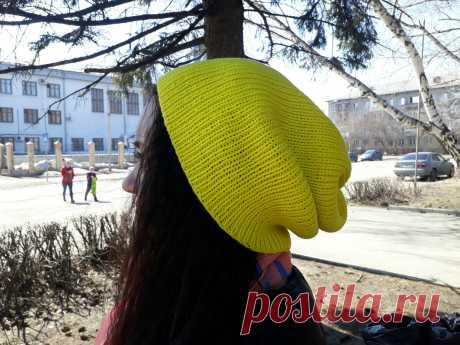 Мастер-класс: Хлопковая летняя шапка тыковка | Алина Костенкова akos10kova / вязание | Яндекс Дзен