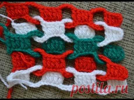 Простой разноцветный шарф