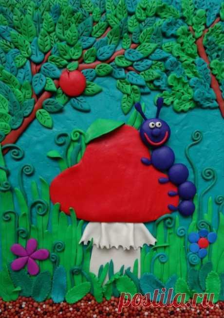 Разные техники рисования пластилином — Поделки с детьми