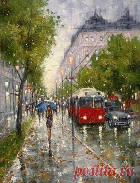 Для тех, кто любит ДОЖДЬ... прекрасные пейзажи дождя