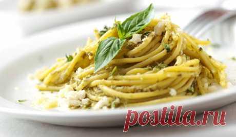 Рецепт пасты с соусом песто, как приготовить пасту с песто по Итальянскому рецепту.