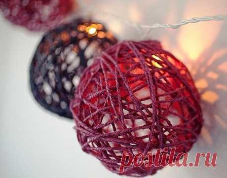 Делаем шарики из ниток / Мастер классы по декору / PassionForum - мастер-классы по рукоделию