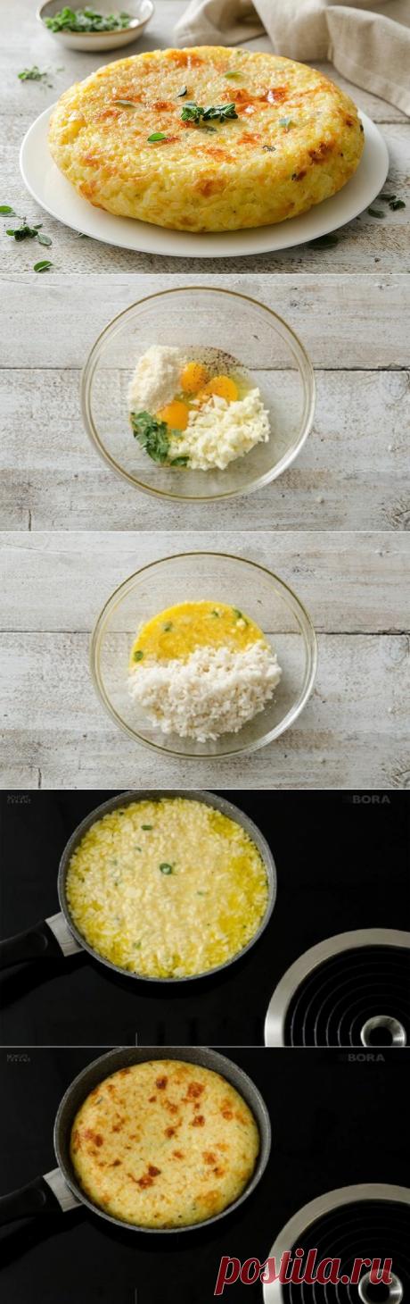 Омлет запеканка из риса, который многие недооценивают