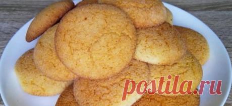 рассыпчатое печенье на манке