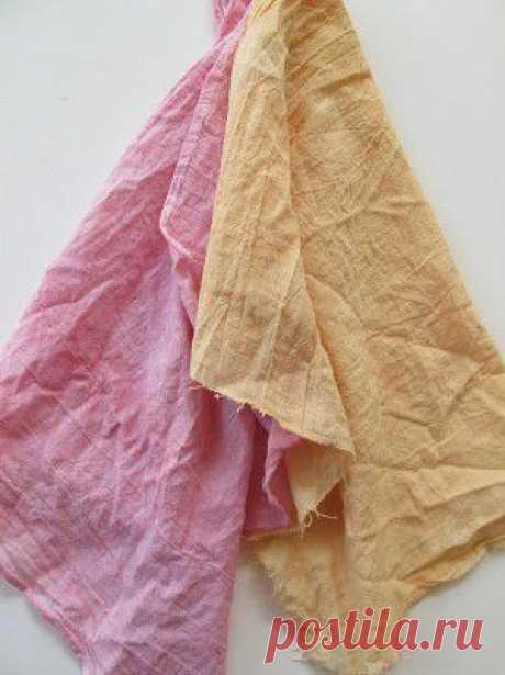 Красим ткани натуральными красителями!