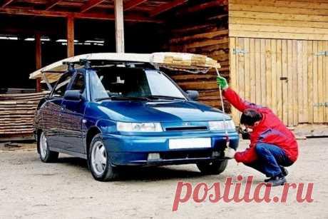Какой длины можно перевозить груз на легковом автомобиле на крыше
