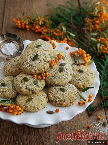 Печенье из тыквенных семечек | beecook.net Простой пошаговый рецепт приготовления вкусного печенья из тыквенных семечек.