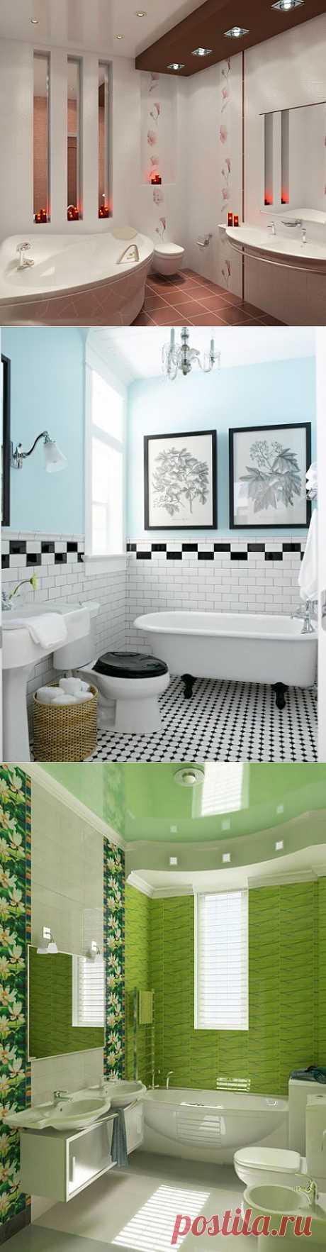Примеры интерьеров маленьких ванных комнат | МОЯ КВАРТИРА