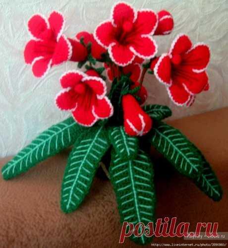 Вязаные цветочки крючком ИДЕИ