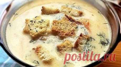 Сырный суп по-французски с гренками