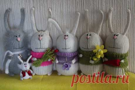 WONDERFUL HARES. DETAILED MK. - record of the user Natalya (Natalya) in community the World of a toy in category Knitted toys. Master classes, schemes, description. My hares here http:\/\/www.liveinternet.ru\/users\/yakusha\/post261518108\/ of the Toy based on Tanya Orobets's robot. Its original works here http:\/\/www.russiancreators