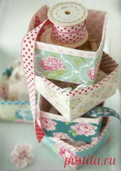 Текстильные коробочки для мелочей из книги TILDAS VARIDEER - МК