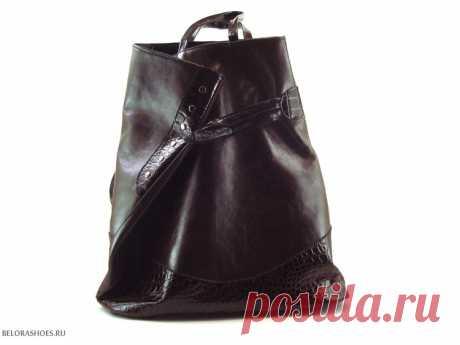 Сумка женская Рюкзак Вместительная женская сумка из натуральной кожи