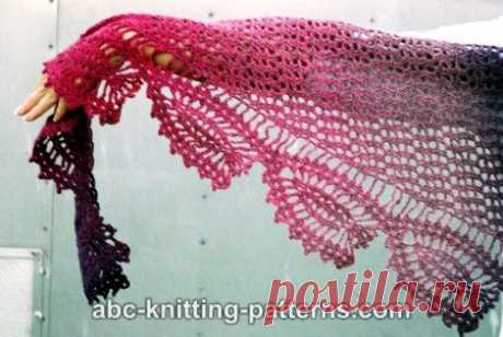 Азбука вязания узоров-Тюльпан мечтательность Шаль