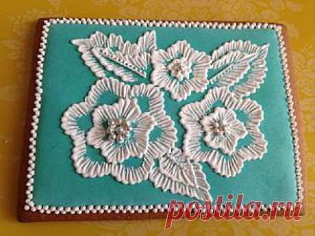 Мастер-класс по росписи пряника. «Цветок из айсинга», часть 2 - Ярмарка Мастеров - ручная работа, handmade